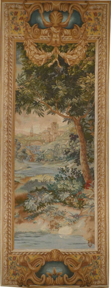 Verdure Cascade right tapestry - pair of vertical tapestries