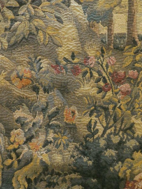 Verdure Gobelins tapestries close-up detail