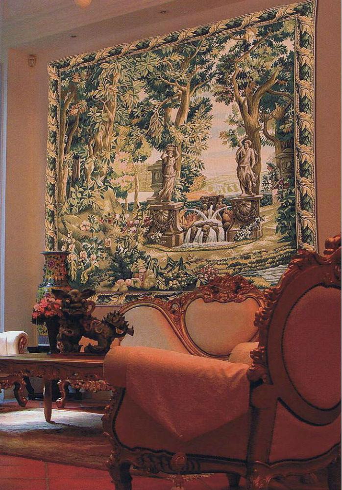 Villa Garden Tapestry Verdure Gobelins Tapestries