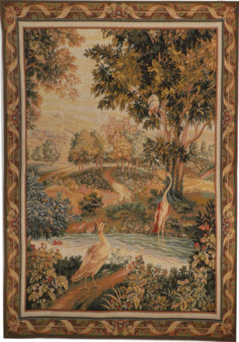 Verdure with Birds - French wall-hanging tapestry design