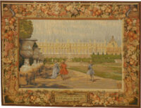 Versailles Promenade - small chateau tapestry wallhanging