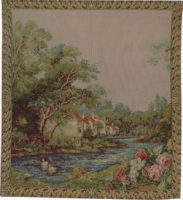 Village at the River tapestry - wallhanging discontinued on sale