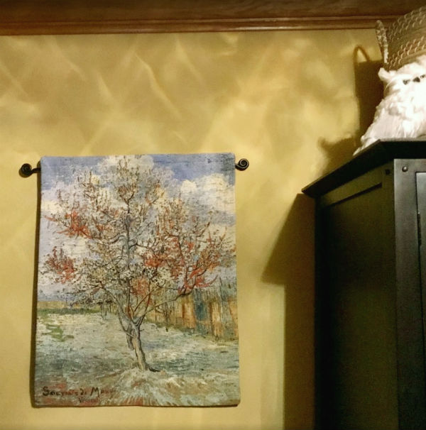 Vincent Van Gogh Peach Tree tapestry hanging