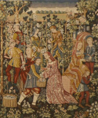 Vintage - the Grapes Harvest - Vendange tapestries