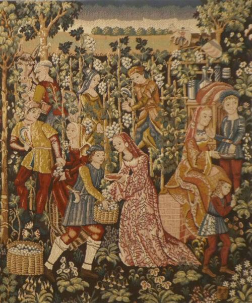 Vintage - the Grapes Harvest - Vendange tapestries