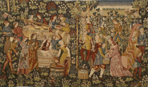 Vintage wall tapestry - Vendange tapestry - Cluny Museum