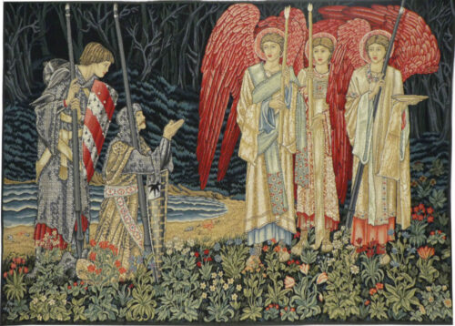 Vision of the Holy Grail - left - Burne-Jones tapestry