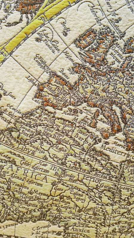 Vrients Orbis Terrae map tapestry