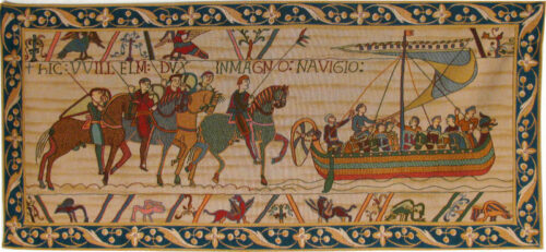 The Bayeux Tapestry - William Embarks from France