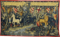 Quest for the Holy Grail - Lion and Unicorn tapestries