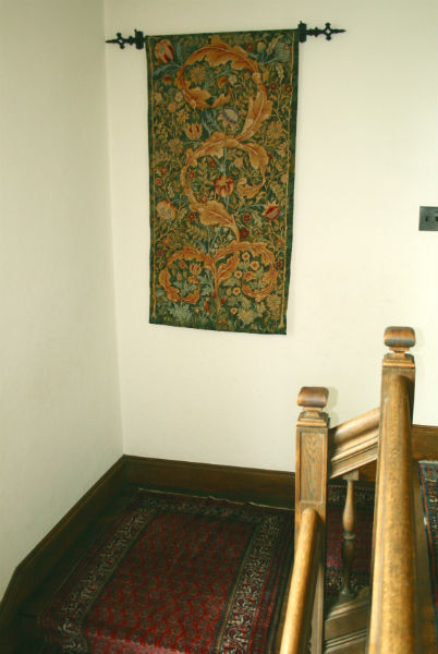 William Morris portiere hanging - in a staicase
