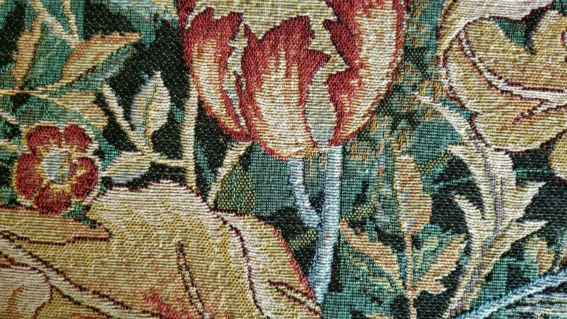 William Morris portiere tapestry closeup