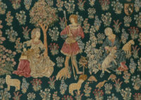 Woolworkers tapestry - medieval mille fleurs tapestries