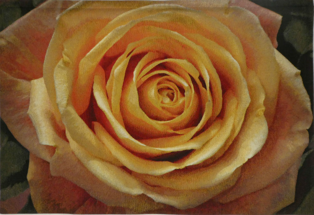 Yellow Rose tapestry - floral tapestries woven in Belgium