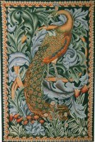 The Peacock tapestry - The Forest wall hanging