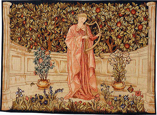 The Minstrel - Morris and Co tapestry