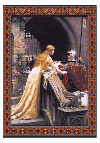 God Speed wall tapestry - Edmund Blair Leighton
