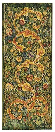 Morris Portiere, large, green - wallhanging tapestry