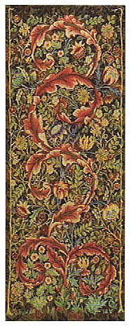 Morris Portiere tapestry, large, maroon
