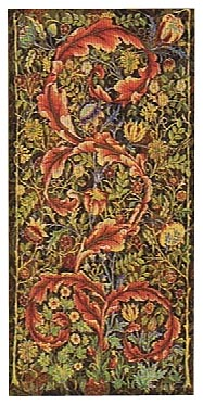 Morris Portiere, medium, maroon - tapestry wallhanging