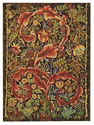Morris Portiere small maroon tapestry - William Morris tapestries