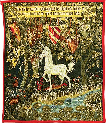 The Quest Unicorn tapestry - Holy Grail tapestries