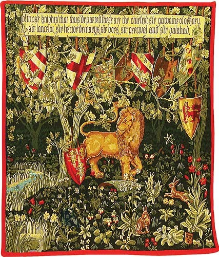 The Quest Lion tapestry - Holy Grail tapestries