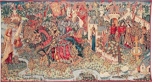 The Legend of King Arthur - Camelot wall tapestry
