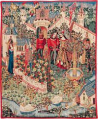 Guinevere tapestry - Camelot wall tapestries - Le Roi Arthur