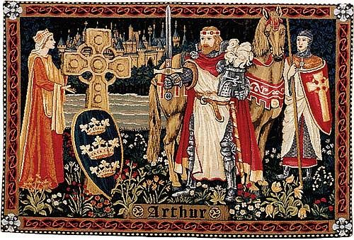 King Arthur tapestry - French medieval wall tapestries