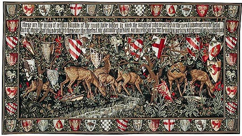 Search for the Unicorn, with border - Burne-Jones tapestry