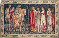The Departure of the Knights tapestry - San Graal tapestries