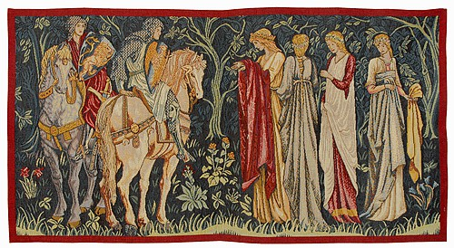The Knights Depart tapestry - Holy Grail tapestries