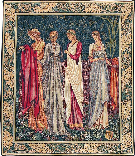 The Ladies of Camelot tapestry - Holy Grail tapestries