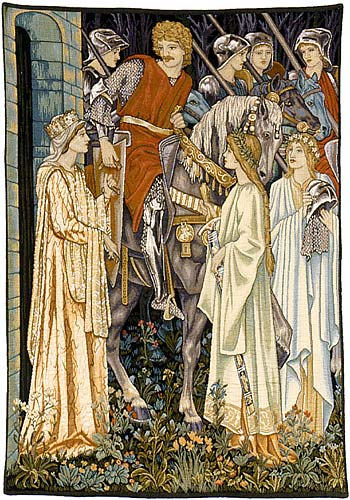 Quest for the Holy Grail detail - Arts & Crafts tapestries