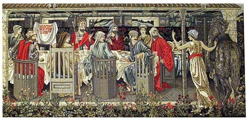 Knights of the Round Table tapestry - Burne-Jones