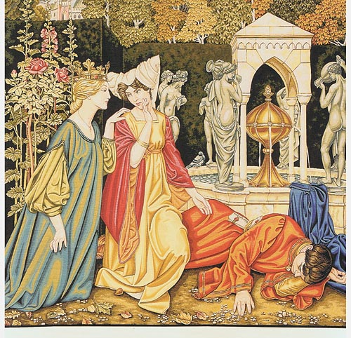 The Letter tapestry - Pre-Raphaelite tapestries
