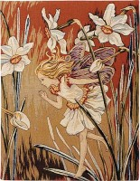 Narcissus Fairy tapestry - Cicely Mary Barker