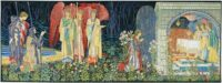 Vision of the Holy Grail tapestry - Burne-Jones tapestries