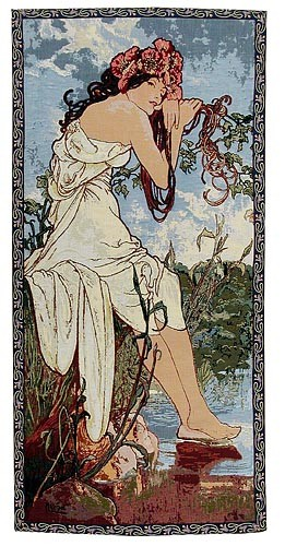 Mucha Summer tapestry - Art Nouveau wall tapestries