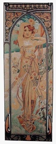 Alphonse Mucha Brightness of Day tapestry - Art Nouveau