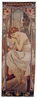 Mucha Nights Rest tapestry - Belgian Art Nouveau