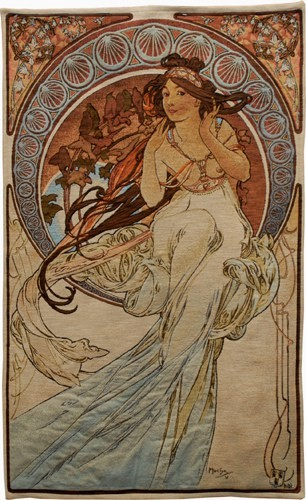 The Arts - Mucha Music tapestry - Alphonse Mucha