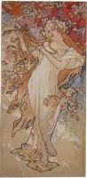 Mucha Tapestry - Spring - Alphonse Mucha Seasons