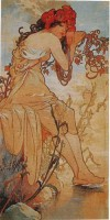Mucha Tapestry - Summer - Art Nouveau tapestries