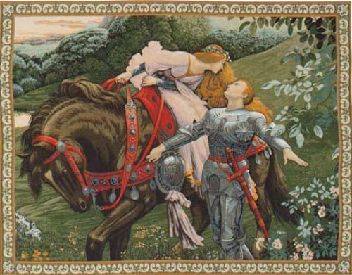 La Belle Dame sans Merci - Frank Dicksee tapestry
