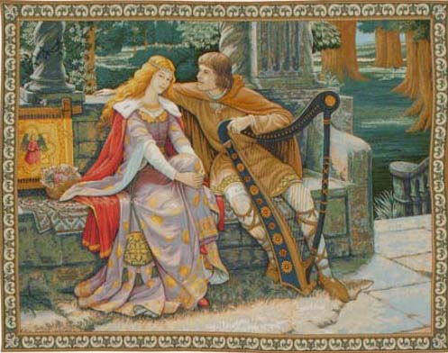 Tristan and Isolde tapestry - Edmund Blair Leighton tapestries