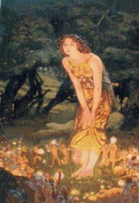 Midsummer's Eve tapestry - French Pre-Raphaelite tapestries