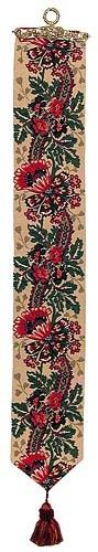 Oriental Poppy bellpull - French bellpulls