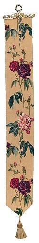 Rosa Gallica bellpull - French bellpulls